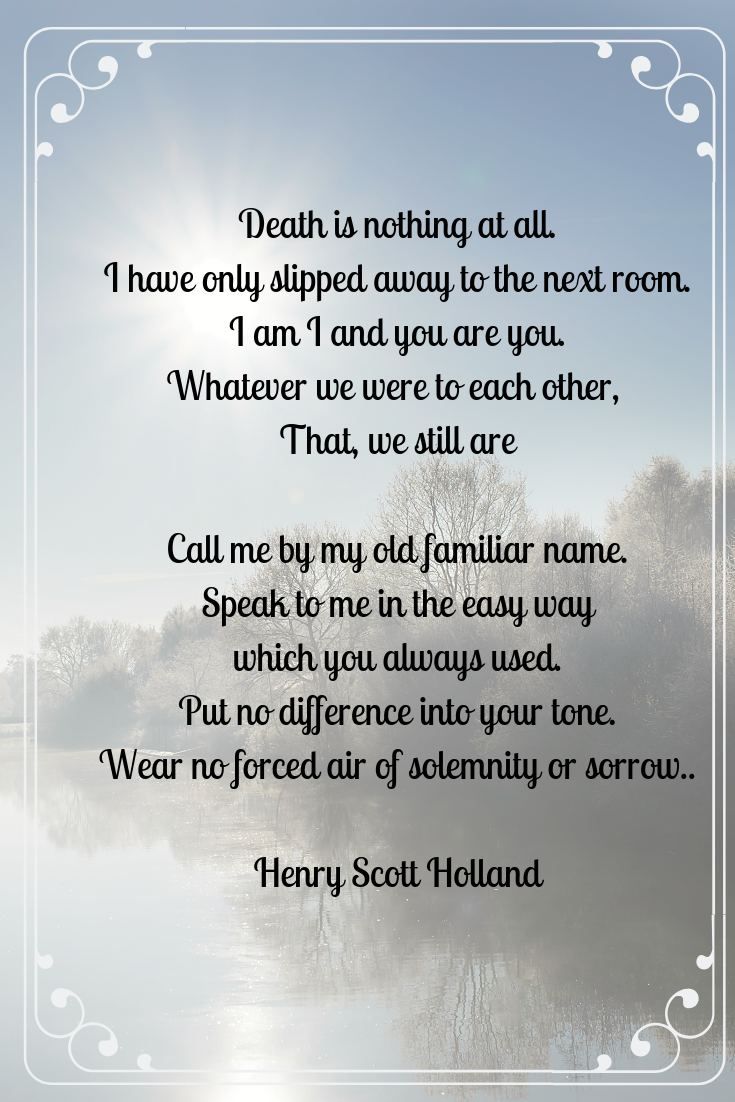 Death is Nothing At All Poem